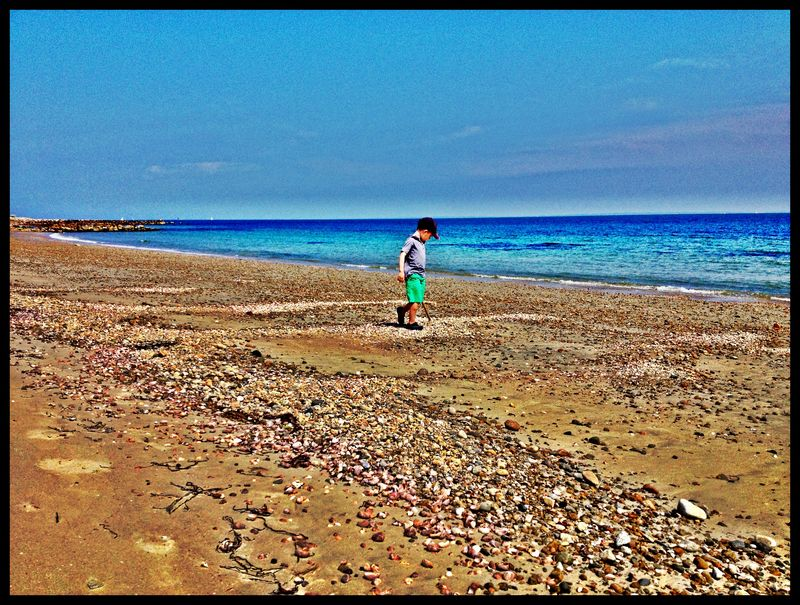 Jack alone on beach