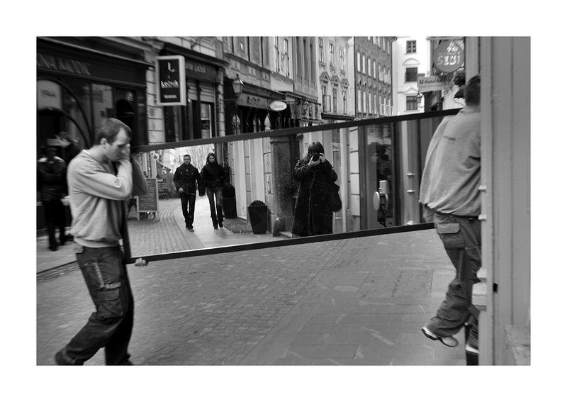 Walking mirror